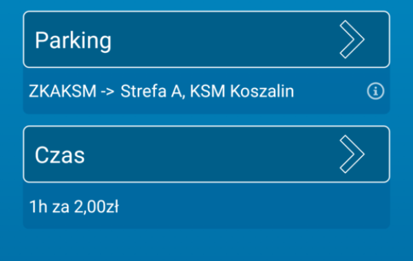 "smsAdminPark na parkingach KSM ""PRZYLESIE"""